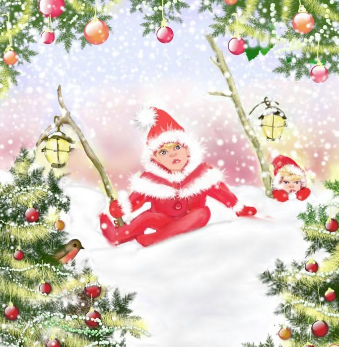 Yulechristmas greeting card christmas elves wholesale fairy margaret gregson m4hsunfo